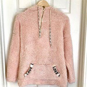 {Miss Chievous} Blush Pink Fleece Sweatshirt